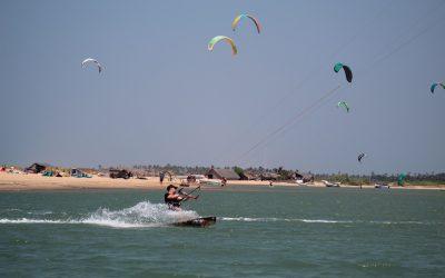 kitesurfing challenge in Kalpitiya lagoon kite spot