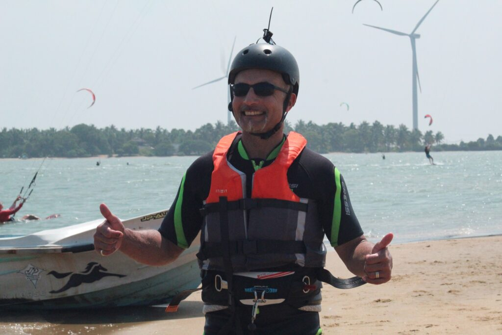 boddy dragging kitesurfing in sri lanka